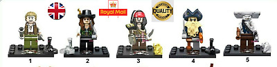 LEGO Compatible Harry Potter & Pirates of the Cariabbean Mini Figures UK SELLER