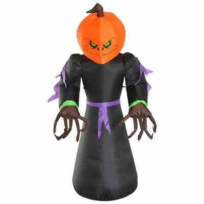 240cm Halloween Inflatable Pumpkin Reaper Ghost Large decoration with Led Light