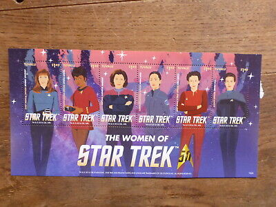 Tuvula 2016 Women Of Star Trek 4 Stamp Mini Sheet Mint Stamps