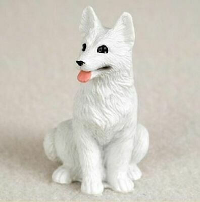 GERMAN SHEPHERD (WHITE) TINY ONES DOG Figurine Statue Pet Lovers Gift Resin