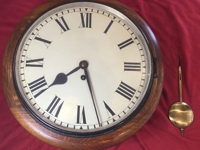 Antique 19Th Century  Chain Drive Fusee  Wall Clock