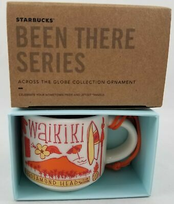 Hawaii Starbucks Waikiki Been There Series Ceramic Cup Christmas Ornament 2oz