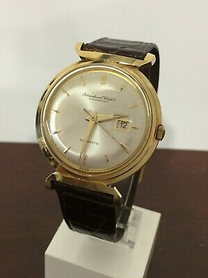 Rare IWC 18K Gold DeLuxe Automatic Hooded Lugs cal 8531 Vintage Men's Watch
