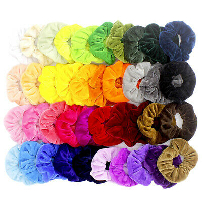 40 Pcs Girls Hair Scrunchies Velvet Elastics Hair Ties Scrunchy Bands Ties Ropes