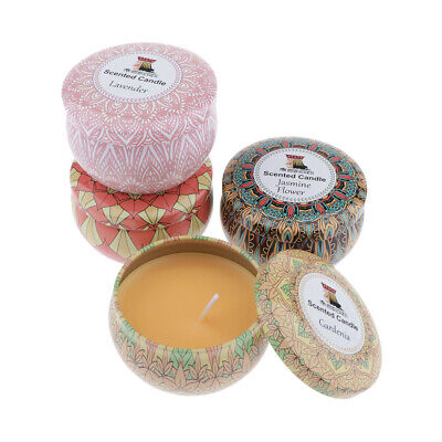 4x Aromatic French Fragrance Scent Tea Light Tealight Candle 4 Fragrance 70g