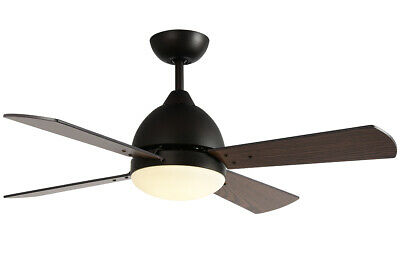 2 IN 1 Ceiling Fan Light Fresh Air Remote Lamp Wooden Blades
