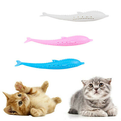 Cat Self-Cleaning Toothbrush - With Catnip INSIDE INTERACTIVE CAT DENTAL TOY FUN