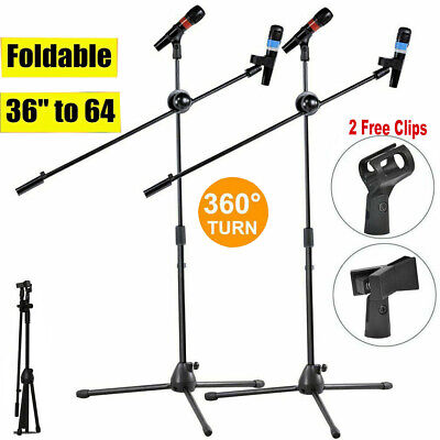Telescope Professional Boom Microphone Mic Stand Holder Adjustable &2 Clips Kids