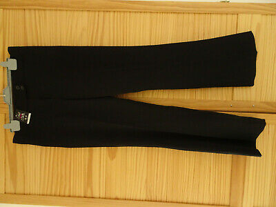 SCHOOL TROUSERS GIRLS BLACK   WAIST 28in   NEW WITH TAGS