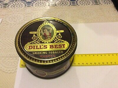 Collectable Vintage Usa  Dills Best Tobacco Tin