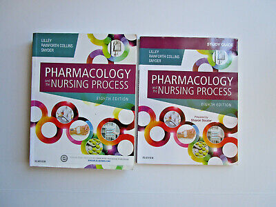 Pharmacology & the Nursing Process Lilley 8th ed Text Book AND Study Guide LN