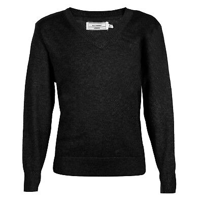 BHS Black Boys Girls School Jumper Knitted  V Neck  Ages  + Adult Plus Sizes