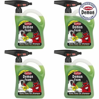 CarPlan Demon CDW200 Snow Foam Car Shampoo 2 Litre with Gun x 4