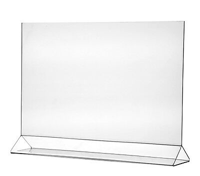 """Poster 17"""" x 11"""" Holder Table Graphic Large Horizontal Ad Frame Display Qty 6"""