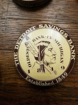 Detroit Savings Celluloid Bank. Oldest Bank in Michigan.1930's