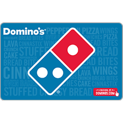 Domino's Pizza Gift Card $50 Value, Only $47.00! Free Shipping!