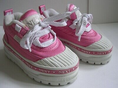 NEXT Girl's Pink White Shoes Trainers Infants UK 4