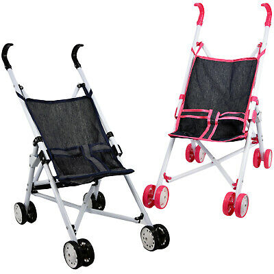 Baby Doll Foldable Pink / Blue Stroller Buggy Jogger Dolls Pram Accessories Toy