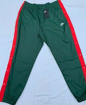 Nike Mens Lined Tear Break Away Basketball Pants Green Red Size XL AR370-323
