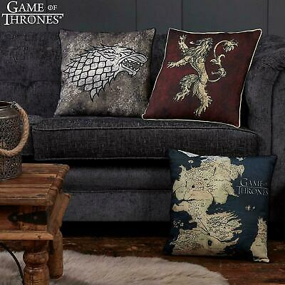 Game Of Thrones Canvas Cushions - Lannister, Stark, Westeros, Targaryen