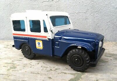 Vtg USPS US Mail Postal Delivery Truck Jeep Bank Western Stamping Corp Steel