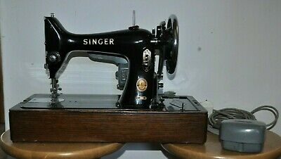 Vintage 1955 Portable Electric Singer 99K Sewing Machine with Keys & Accessories