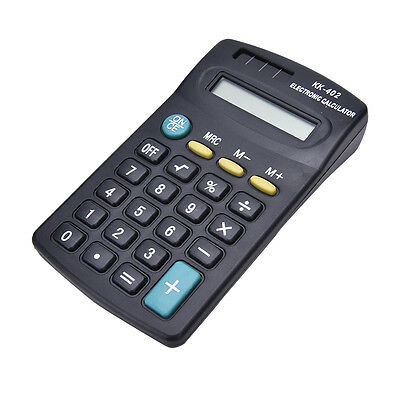 Pocket Mini 8Digit Electronic Calculator Battery Powered School/Office CompaRGS