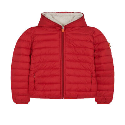 Save The Duck Girls Hooded Jacket 119 Tango Red