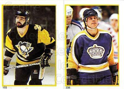 1985-86 O-Pee-Chee Stickers #103-236 Wayne Babych, Jim Fox