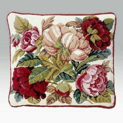 EHRMAN BLOOMING ROSES (cream) by DAVID MERRY TAPESTRY NEEDLEPOINT KIT - RETIRED