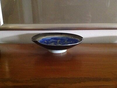 Beautiful Japanese Glazed Pottery / Stoneware Tea Ceremony Bowl - Signed
