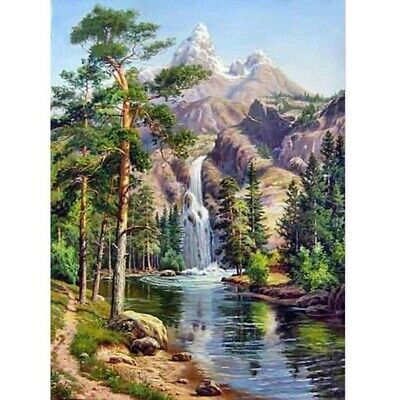 5D Full Drill Diamond Painting Landscape  Embroidery Cross Crafts Kit Decors DIY