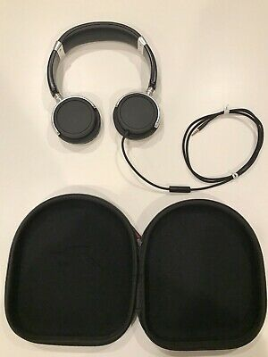 Sentey Black 3.5mm Jack Input Headphones with Inline Microphone + Zipper Case