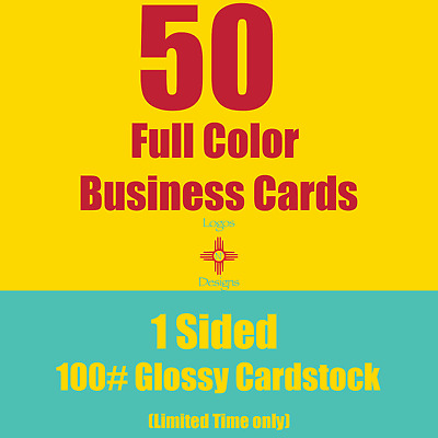 50 Full Color Business Cards |