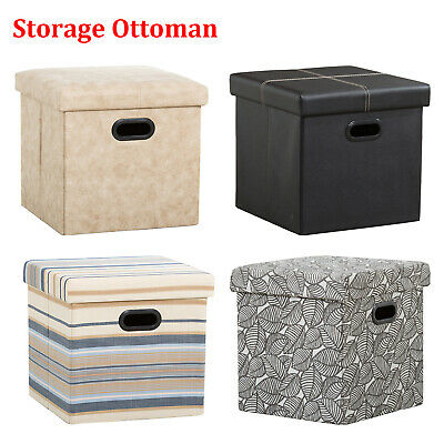 Cool 15 Storage Ottoman Folding Toy Box Chest Ottomans Seat Gmtry Best Dining Table And Chair Ideas Images Gmtryco