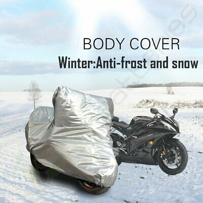 Up To 230X95X110 CM 190t Polyester Full Coverage Gray Motorcycle Cover