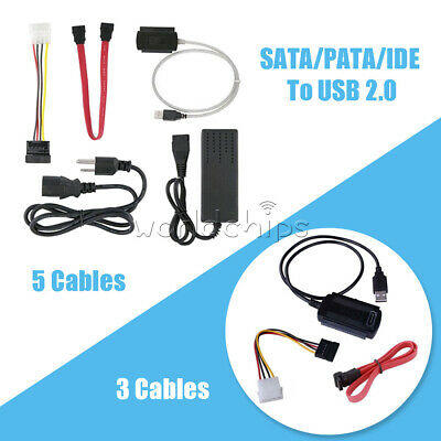SATA/PATA/IDE To USB 2.0 Adapter Converter Cable For 2.5/3.5 Inch Hard Drive