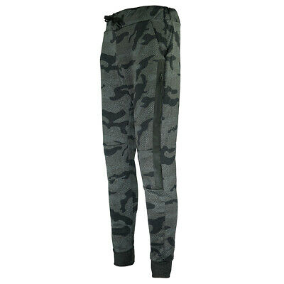 XS Sport Men's Camo Sport Fitted Jogger Pants w/ Rubber Side Zipper