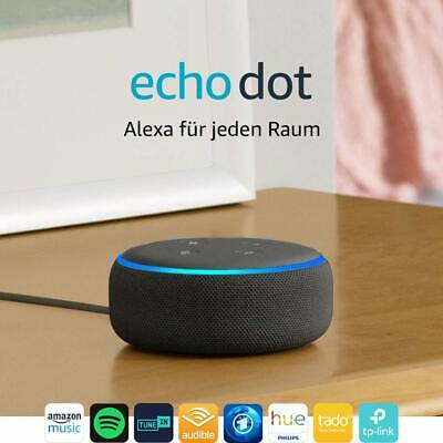 Amazon Echo Dot 3. Generazione Intelligente Altoparlante con Alexa Antracite Neu