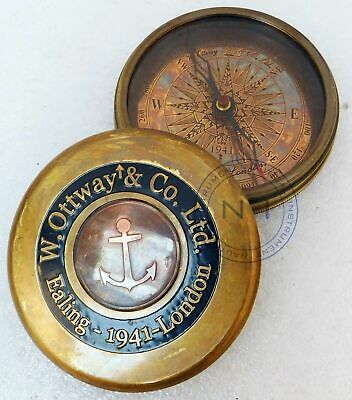 Go Confidently Engraved Brass Compass Directional Magnetic Personalized Gift