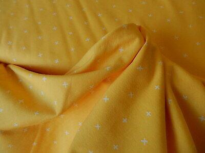 Art Gallery Fabrics Jersey Knit Your heart reverie yellow /wht dressmaking baby