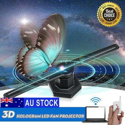 3D 224LED WiFi Holographic Hologram LED Projector Display Advertising Fan AUS