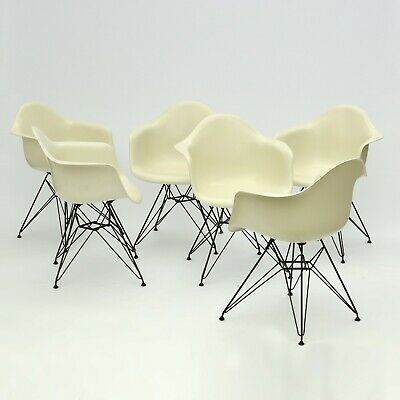 Eames Fiberglass Arm Chairs Armchairs Set of 6 vintage Herman Miller + Vitra DAR