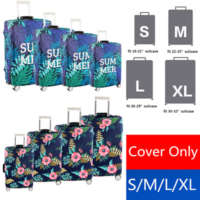 """Travel Luggage Cover Protector Suitcase Dust Proof Bag Anti Scratch 18"""" ~ 32"""""""