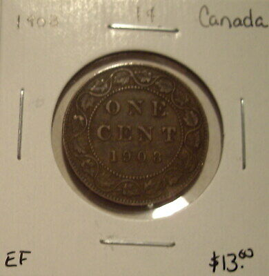 Canada Edward VII 1908 Large Cent - EF