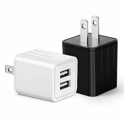 2 Pack USB Travel Wall Charger AC Power Adapter For iPhone Samsung Top Colors!