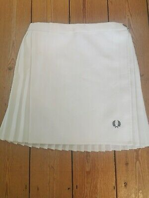 Vintage White Fred Perry Tennis Skirt Size Large