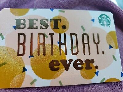 Starbucks gift card 2019 BEST BIRTHDAY EVER. NEW. No Value. Recycleable