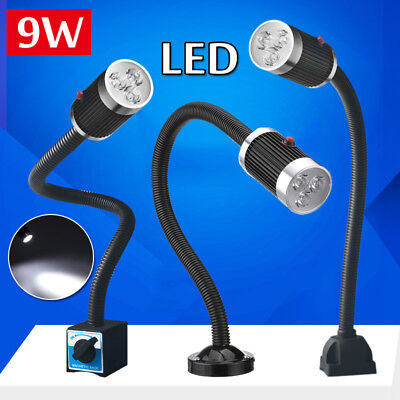 9W Flexible CNC Machine Working Lamp LED Aluminum Alloy Magnetic / Fixed  !