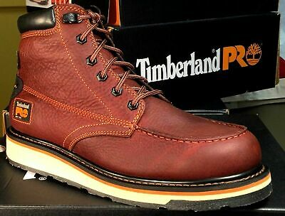 """Timberland Men's Gridworks 6"""" Waterproof Soft Toe Wedge Sole EH Boot TB0A1KRQ"""